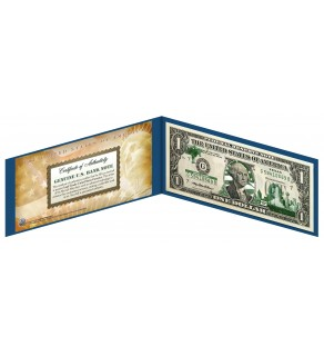 "TEXAS State $1 Bill - Genuine Legal Tender - U.S. One-Dollar Currency "" Green """