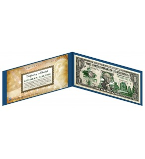 "WASHINGTON State $1 Bill - Genuine Legal Tender - U.S. One-Dollar Currency "" Green """