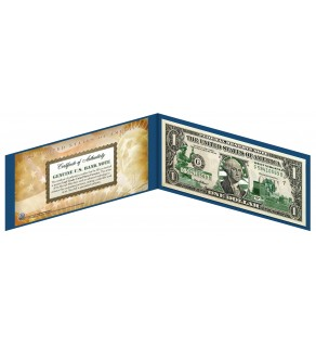 "WEST VIRGINIA State $1 Bill - Genuine Legal Tender - U.S. One-Dollar Currency "" Green """