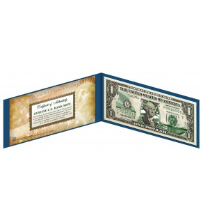"WISCONSIN State $1 Bill - Genuine Legal Tender - U.S. One-Dollar Currency "" Green """