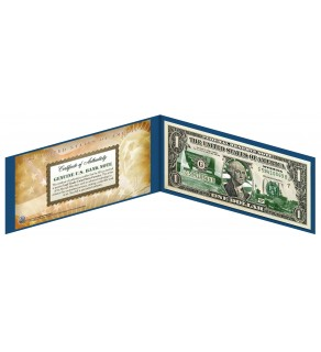 "WYOMING State $1 Bill - Genuine Legal Tender - U.S. One-Dollar Currency "" Green """
