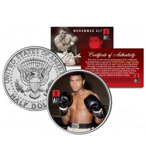 "MUHAMMAD ALI "" Gloves "" JFK Kennedy Half Dollar U.S. Coin"