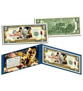"""MUHAMMAD ALI """"Petruccio Art"""" Legal Tender U.S. $2 Bill - Officially Licensed"""