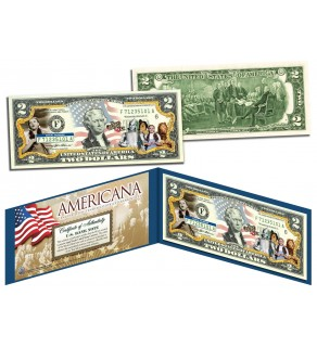 WIZARD OF OZ - Americana - Genuine Legal Tender Colorized U.S. $2 Bill - Officially Licensed