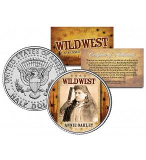 ANNIE OAKLEY - Wild West Series - JFK Kennedy Half Dollar U.S. Colorized Coin