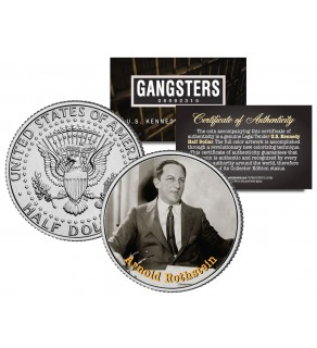 ARNOLD ROTHSTEIN Gangsters JFK Kennedy Half Dollar US Colorized Coin