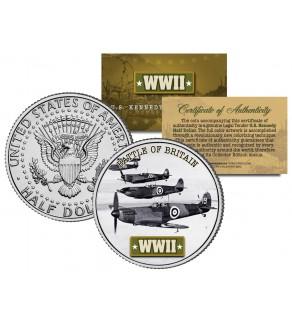 World War II - BATTLE OF BRITAIN - JFK Kennedy Half Dollar US Coin