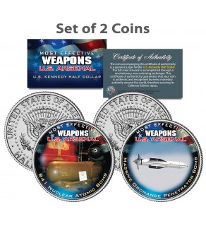 U.S. WEAPONS ARSENAL - Bombs - JFK Kennedy Half Dollars US 2-Coin Set