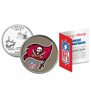 TAMPA BAY BUCCANEERS NFL Florida US Statehood Quarter Colorized Coin  - Officially Licensed