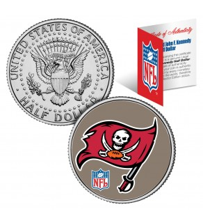 TAMPA BAY BUCCANEERS NFL JFK Kennedy Half Dollar US Colorized Coin - Officially Licensed