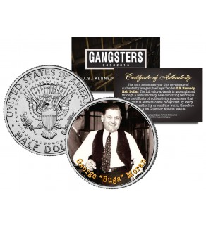 GEORGE BUGS MORAN Gangsters JFK Kennedy Half Dollar US Colorized Coin