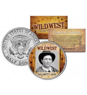 CALAMITY JANE - Wild West Series - JFK Kennedy Half Dollar U.S. Colorized Coin