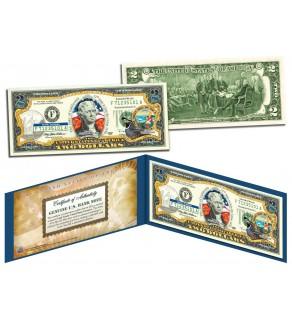 CALIFORNIA $2 Statehood CA State Two-Dollar U.S. Bill - Genuine Legal Tender