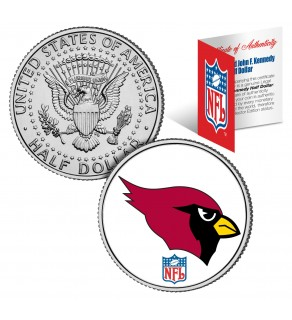 ARIZONA CARDINALS NFL JFK Kennedy Half Dollar US Colorized Coin - Officially Licensed