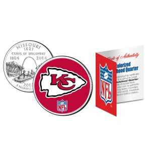 KANSAS CITY CHIEFS NFL Missouri US Statehood Quarter Colorized Coin  - Officially Licensed