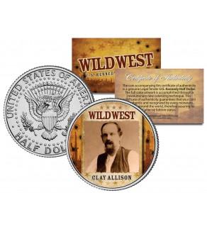 CLAY ALLISON - Wild West Series - JFK Kennedy Half Dollar U.S. Colorized Coin