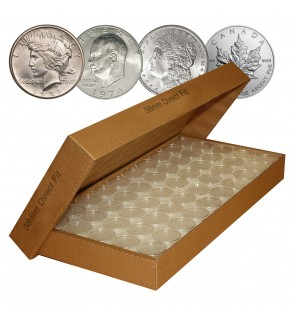 25 Direct-Fit Airtight 38mm Coin Capsules Holders For MORGAN / PEACE / IKE DOLLARS