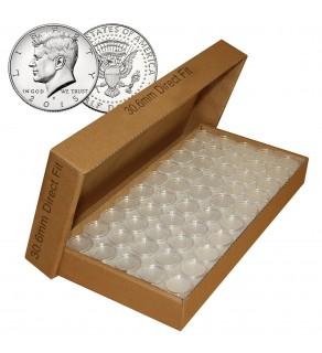 25 Direct Fit Airtight 30.6mm Coin Holders Capsules For JFK HALF DOLLARS