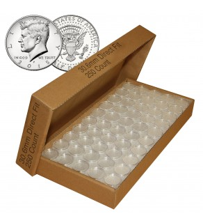 250 Direct Fit Airtight 30.6mm Coin Holders Capsules For HALF DOLLARS
