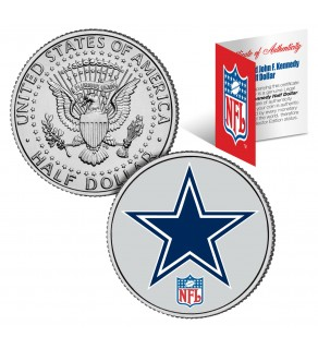 DALLAS COWBOYS NFL JFK Kennedy Half Dollar US Colorized Coin - Officially Licensed