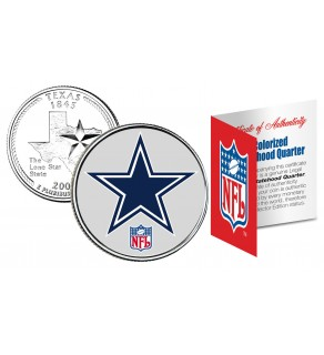 DALLAS COWBOYS NFL Texas US Statehood Quarter Colorized Coin  - Officially Licensed