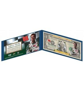 DALE EARNHARDT JR #88 NASCAR Genuine Legal Tender U.S. $1 Bill  - Officially Licensed