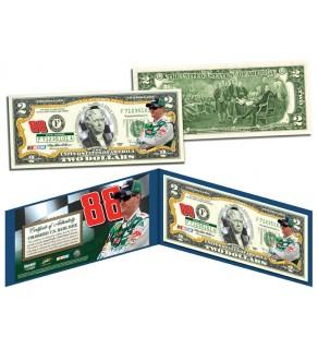 DALE EARNHARDT JR Nascar #88 Colorized Genuine Legal Tender $2 U.S. Bill - Officially Licensed