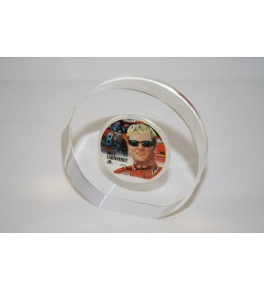 DALE EARNHARDT JR 2001 1 oz American Silver Eagle Colorized Coin Lucite Paperweight