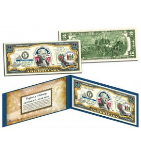 DELAWARE $2 Statehood DE State Two-Dollar U.S. Bill - Genuine Legal Tender