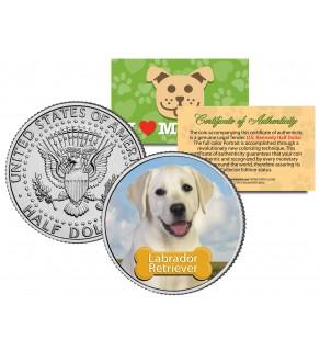 LABRADOR RETRIEVER - Dog - JFK Kennedy Half Dollar U.S. Colorized Coin - Limited Edition