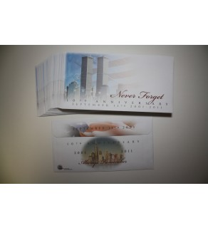 Lot of 40 Cachet Envelopes 9/11 WORLD TRADE CENTER - 10th Anniversary - Never Forget