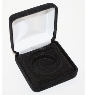 Lot of 25 Black Felt COIN DISPLAY GIFT METAL BOX holds 1-IKE or Silver Eagle ASE
