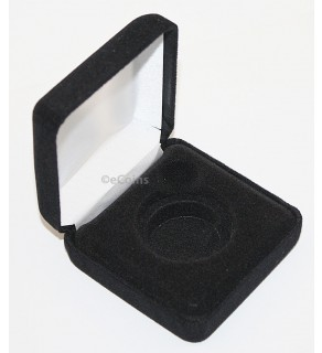 Black Felt COIN DISPLAY GIFT METAL DELUXE PLUSH BOX holds 1-Half Dollar U.S.
