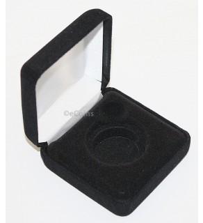 Lot of 25 Black Felt COIN DISPLAY GIFT METAL DELUXE PLUSH BOX for 1-Half Dollar U.S.