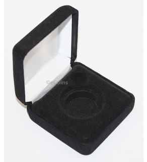 Lot of 35 Black Felt COIN GIFT METAL BOX holds 1-Quarter or Presidential $1 or Sacagawea Dollar