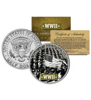 World War II - AFRICAN AMERICAN SOLDIERS - JFK Kennedy Half Dollar US Coin