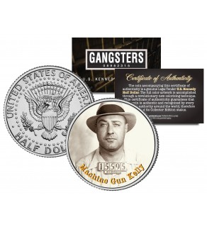 MACHINE GUN KELLY Gangsters JFK Kennedy Half Dollar US Colorized Coin