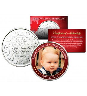 PRINCE GEORGE - First Birthday 2014 - Royal Canadian Mint Medallion Coin ROYAL BABY