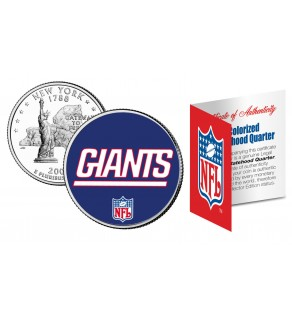 NEW YORK GIANTS NFL New York US Statehood Quarter Colorized Coin  - Officially Licensed