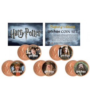 Harry Potter HEROES Great Britain UK Genuine Legal Tender 5-Coin Set - Officially Licensed