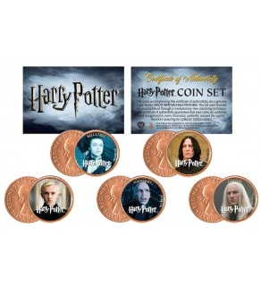 Harry Potter VILLAINS Great Britain UK Genuine Legal Tender 5-Coin Set - Officially Licensed