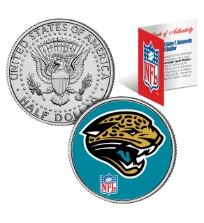 JACKSONVILLE JAGUARS NFL JFK Kennedy Half Dollar US Colorized Coin - Officially Licensed
