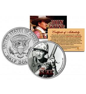 "JOHN WAYNE - THE DUKE "" Sands of Iwo Jima "" JFK Kennedy Half Dollar US Coin - Officially Licensed"