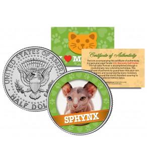 SPHYNX Cat JFK Kennedy Half Dollar U.S. Colorized Coin