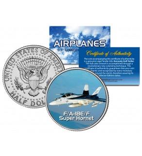 F/A-18E/F SUPER HORNET - Airplane Series - JFK Kennedy Half Dollar U.S. Colorized Coin