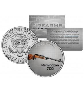 REMINGTON 700 Gun Firearm JFK Kennedy Half Dollar US Colorized Coin