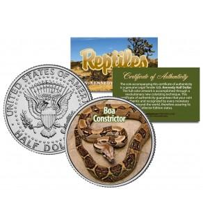 BOA CONSTRICTOR - Collectible Reptiles - JFK Kennedy Half Dollar US Colorized Coin SNAKE