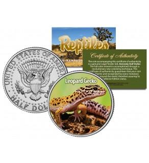 LEOPARD GECKO - Collectible Reptiles - JFK Kennedy Half Dollar US Colorized Coin LIZARD