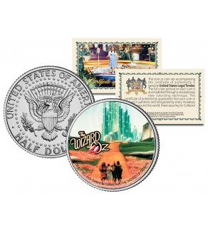 "WIZARD OF OZ "" Emerald City "" JFK Kennedy Half Dollar US Coin - Officially Licensed"