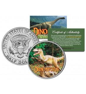 DEINONYCHUS Collectible Dinosaur JFK Kennedy Half Dollar U.S. Colorized Coin